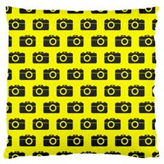Modern Chic Vector Camera Illustration Pattern Large Cushion Cases (two Sides)