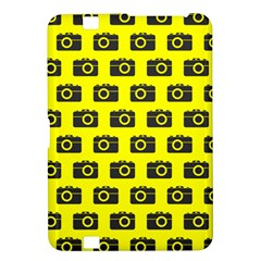 Modern Chic Vector Camera Illustration Pattern Kindle Fire Hd 8 9
