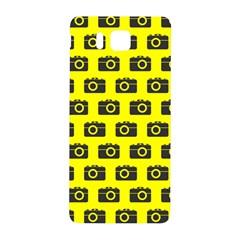 Modern Chic Vector Camera Illustration Pattern Samsung Galaxy Alpha Hardshell Back Case