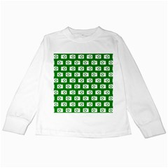 Modern Chic Vector Camera Illustration Pattern Kids Long Sleeve T-Shirts