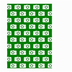 Modern Chic Vector Camera Illustration Pattern Small Garden Flag (Two Sides)