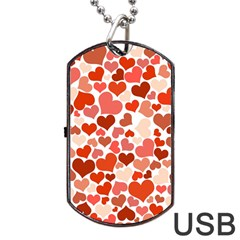 Heart 2014 0901 Dog Tag USB Flash (Two Sides)