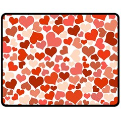 Heart 2014 0901 Double Sided Fleece Blanket (Medium)