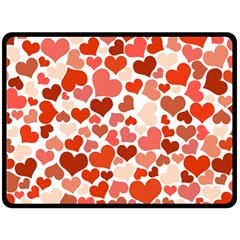 Heart 2014 0901 Double Sided Fleece Blanket (large)
