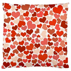 Heart 2014 0901 Large Flano Cushion Cases (One Side)
