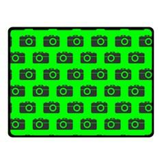 Modern Chic Vector Camera Illustration Pattern Fleece Blanket (small)