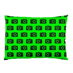 Modern Chic Vector Camera Illustration Pattern Pillow Cases (Two Sides)