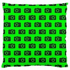 Modern Chic Vector Camera Illustration Pattern Large Cushion Cases (one Side)