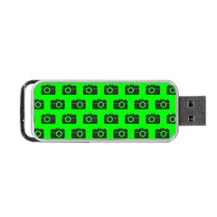 Modern Chic Vector Camera Illustration Pattern Portable USB Flash (One Side)