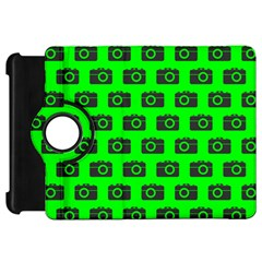 Modern Chic Vector Camera Illustration Pattern Kindle Fire Hd Flip 360 Case