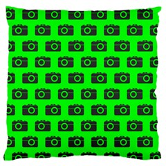 Modern Chic Vector Camera Illustration Pattern Large Flano Cushion Cases (Two Sides)