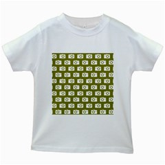 Modern Chic Vector Camera Illustration Pattern Kids White T Shirts