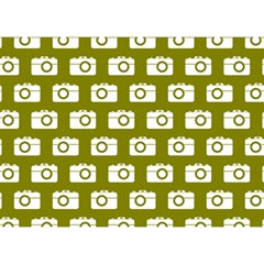 Modern Chic Vector Camera Illustration Pattern Birthday Cake 3d Greeting Card (7x5)