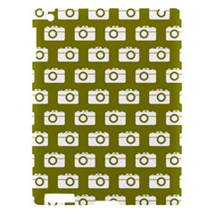 Modern Chic Vector Camera Illustration Pattern Apple Ipad 3/4 Hardshell Case