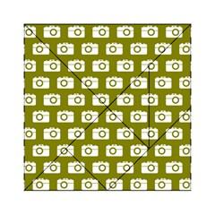 Modern Chic Vector Camera Illustration Pattern Acrylic Tangram Puzzle (6  x 6 )