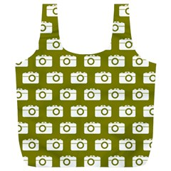 Modern Chic Vector Camera Illustration Pattern Full Print Recycle Bags (l)