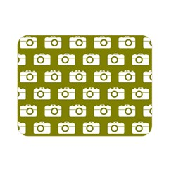 Modern Chic Vector Camera Illustration Pattern Double Sided Flano Blanket (Mini)