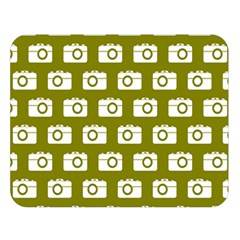 Modern Chic Vector Camera Illustration Pattern Double Sided Flano Blanket (Large)