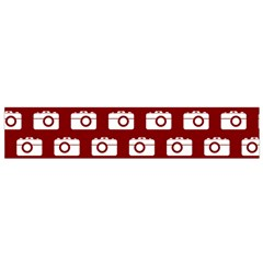 Modern Chic Vector Camera Illustration Pattern Flano Scarf (small)