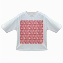 Coral Pink Gerbera Daisy Vector Tile Pattern Infant/toddler T Shirts