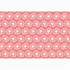 Coral Pink Gerbera Daisy Vector Tile Pattern Collage 12  x 18