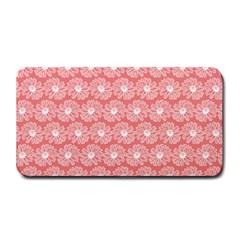 Coral Pink Gerbera Daisy Vector Tile Pattern Medium Bar Mats