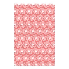 Coral Pink Gerbera Daisy Vector Tile Pattern Shower Curtain 48  x 72  (Small)