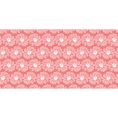 Coral Pink Gerbera Daisy Vector Tile Pattern You Are Invited 3d Greeting Card (8x4)