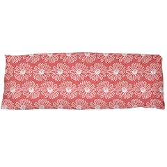 Coral Pink Gerbera Daisy Vector Tile Pattern Body Pillow Cases (Dakimakura)