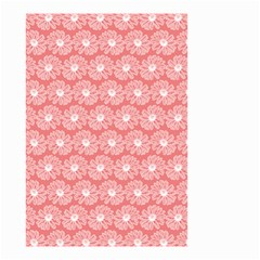Coral Pink Gerbera Daisy Vector Tile Pattern Small Garden Flag (Two Sides)