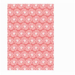 Coral Pink Gerbera Daisy Vector Tile Pattern Large Garden Flag (Two Sides)