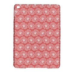 Coral Pink Gerbera Daisy Vector Tile Pattern Ipad Air 2 Hardshell Cases