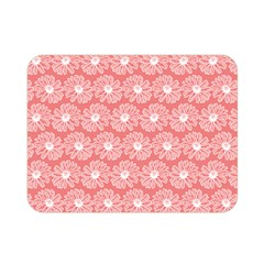 Coral Pink Gerbera Daisy Vector Tile Pattern Double Sided Flano Blanket (Mini)