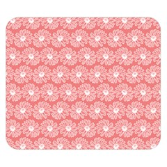Coral Pink Gerbera Daisy Vector Tile Pattern Double Sided Flano Blanket (Small)