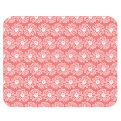 Coral Pink Gerbera Daisy Vector Tile Pattern Double Sided Flano Blanket (medium)