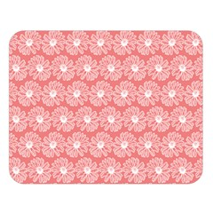 Coral Pink Gerbera Daisy Vector Tile Pattern Double Sided Flano Blanket (large)