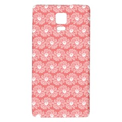 Coral Pink Gerbera Daisy Vector Tile Pattern Galaxy Note 4 Back Case