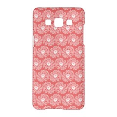 Coral Pink Gerbera Daisy Vector Tile Pattern Samsung Galaxy A5 Hardshell Case