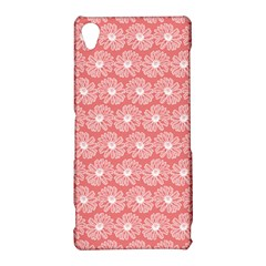Coral Pink Gerbera Daisy Vector Tile Pattern Sony Xperia Z3
