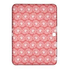 Coral Pink Gerbera Daisy Vector Tile Pattern Samsung Galaxy Tab 4 (10.1 ) Hardshell Case