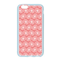 Coral Pink Gerbera Daisy Vector Tile Pattern Apple Seamless iPhone 6 Case (Color)