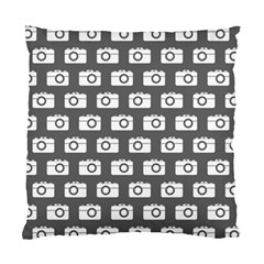 Modern Chic Vector Camera Illustration Pattern Standard Cushion Cases (two Sides)