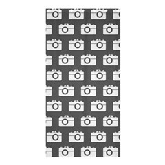 Modern Chic Vector Camera Illustration Pattern Shower Curtain 36  x 72  (Stall)