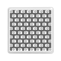 Modern Chic Vector Camera Illustration Pattern Memory Card Reader (Square)