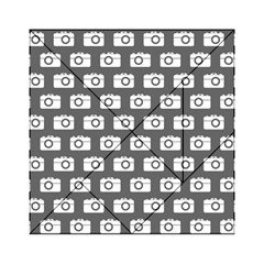 Modern Chic Vector Camera Illustration Pattern Acrylic Tangram Puzzle (6  X 6 )