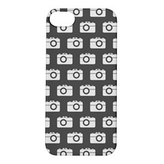 Modern Chic Vector Camera Illustration Pattern Apple Iphone 5s Hardshell Case