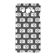 Modern Chic Vector Camera Illustration Pattern Samsung Galaxy A5 Hardshell Case