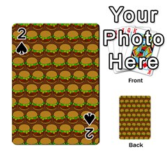 Burger Snadwich Food Tile Pattern Playing Cards 54 Designs
