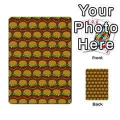 Burger Snadwich Food Tile Pattern Multi Purpose Cards (rectangle)