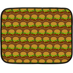 Burger Snadwich Food Tile Pattern Fleece Blanket (Mini)